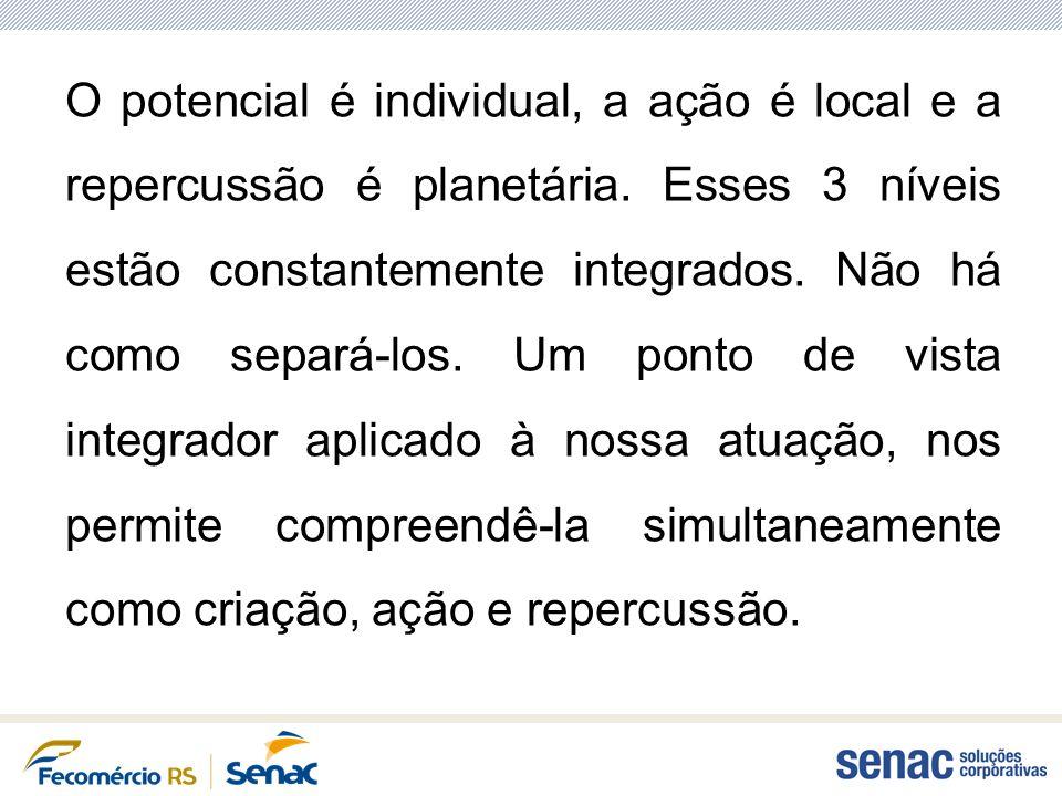 O potencial é individual, a ação é local e a repercussão é planetária