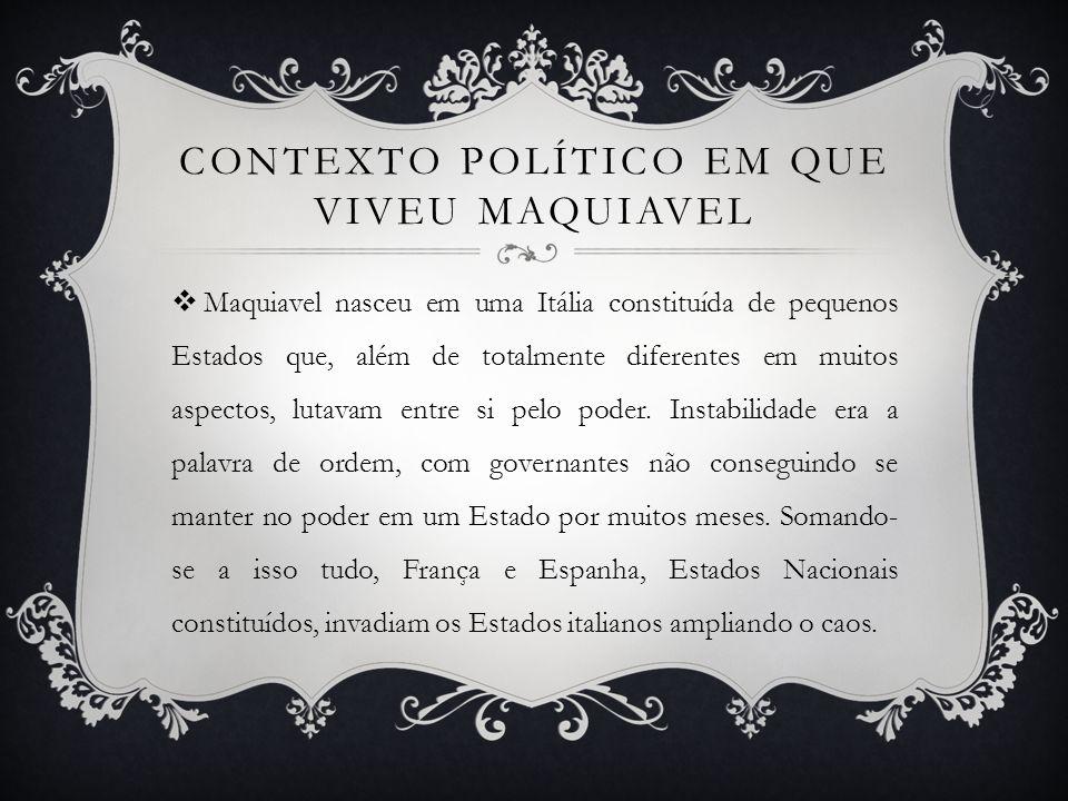 Contexto Político em que viveu Maquiavel