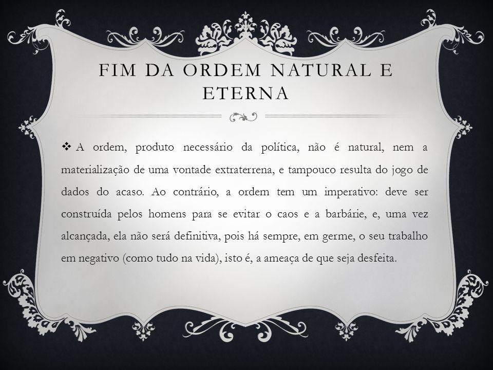 Fim da ordem natural e eterna
