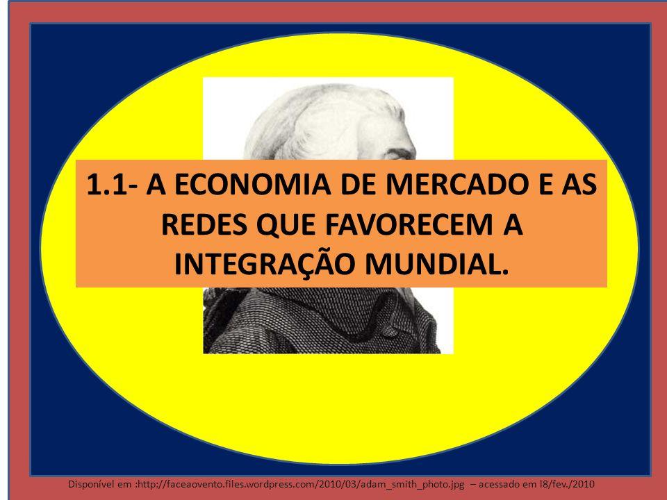 1.1- A ECONOMIA DE MERCADO E AS REDES QUE FAVORECEM A INTEGRAÇÃO MUNDIAL.
