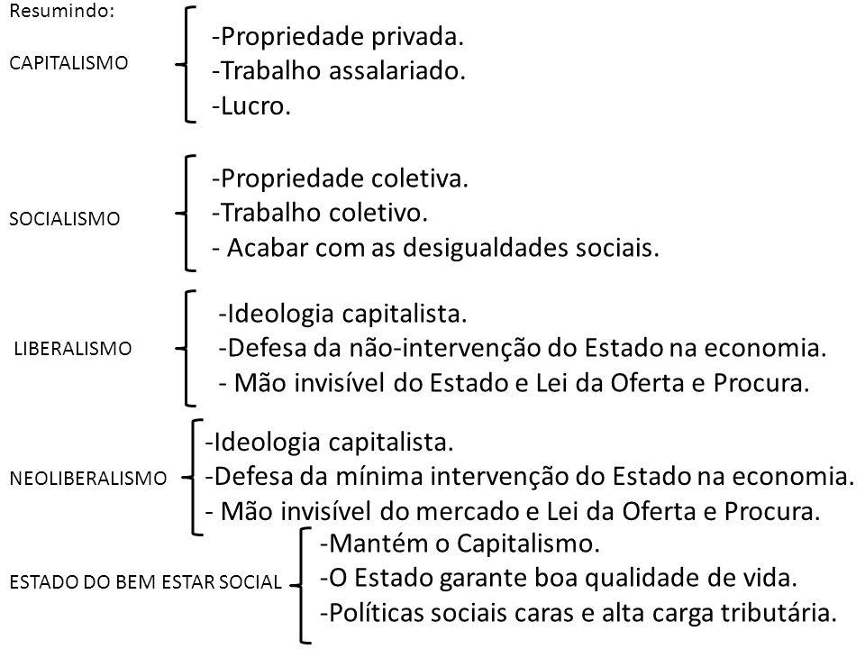 - Acabar com as desigualdades sociais.