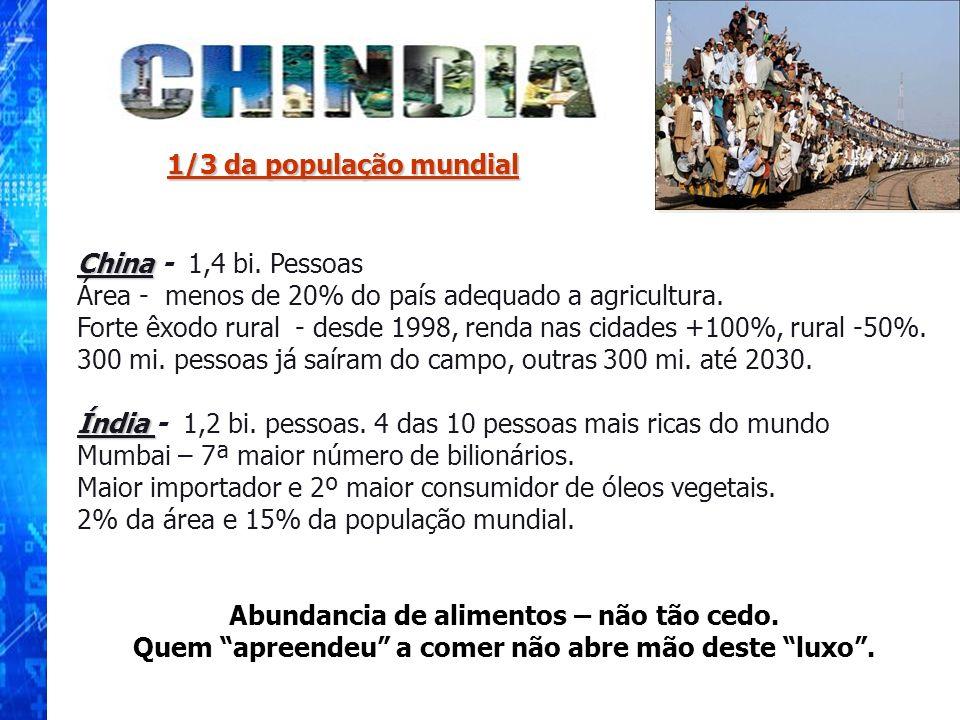 Área - menos de 20% do país adequado a agricultura.
