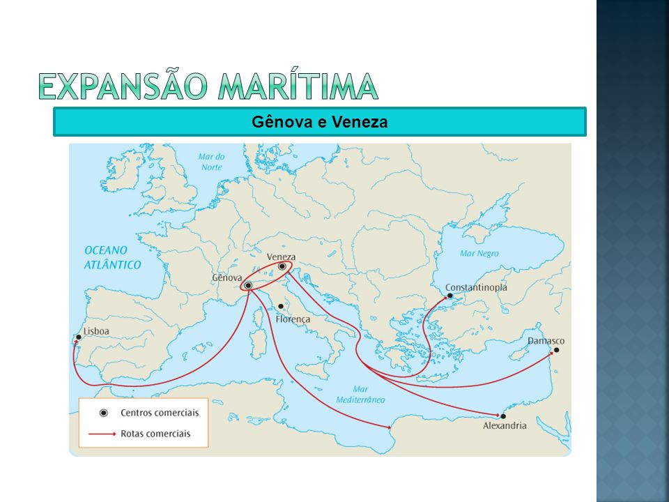 Expansão marítima Gênova e Veneza