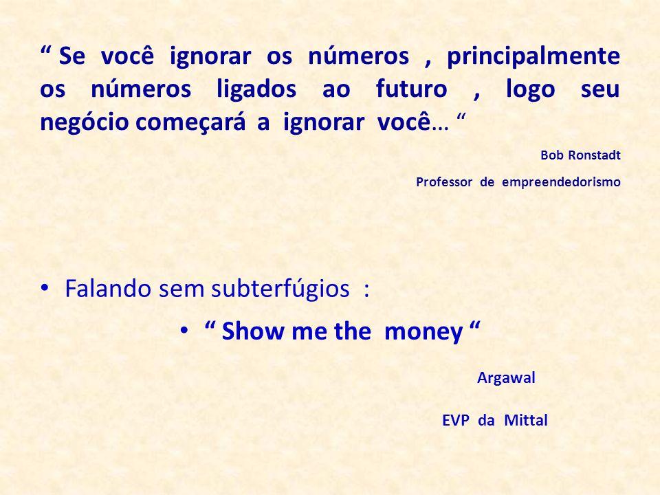 Falando sem subterfúgios : Show me the money Argawal EVP da Mittal