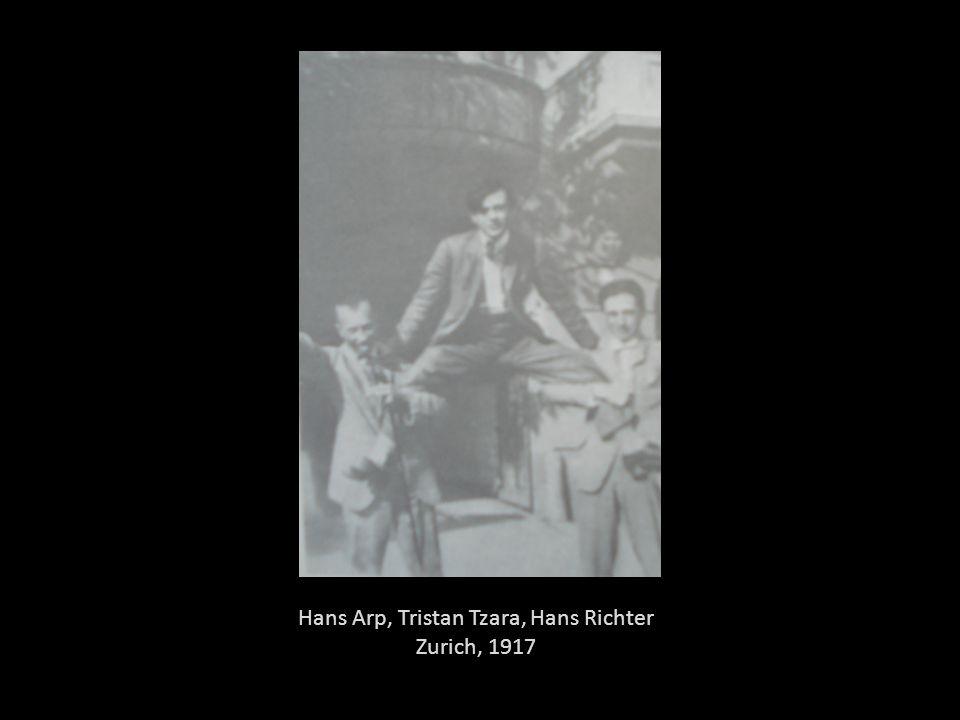 Hans Arp, Tristan Tzara, Hans Richter