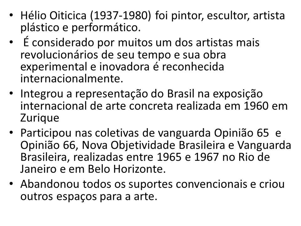 Hélio Oiticica (1937-1980) foi pintor, escultor, artista plástico e performático.