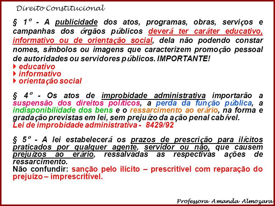 Lei de improbidade administrativa - 8429/92