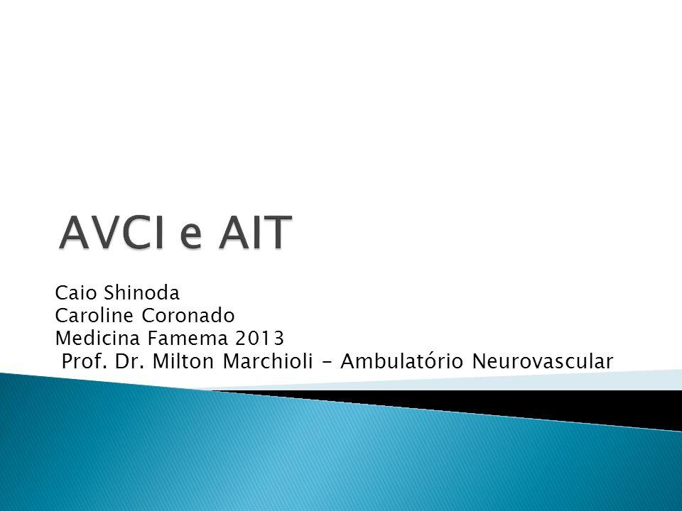 AVCI e AIT Caio Shinoda Caroline Coronado Medicina Famema 2013