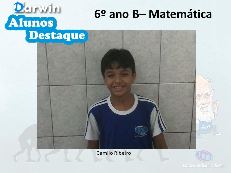 6º ano B– Matemática Camilo Ribeiro