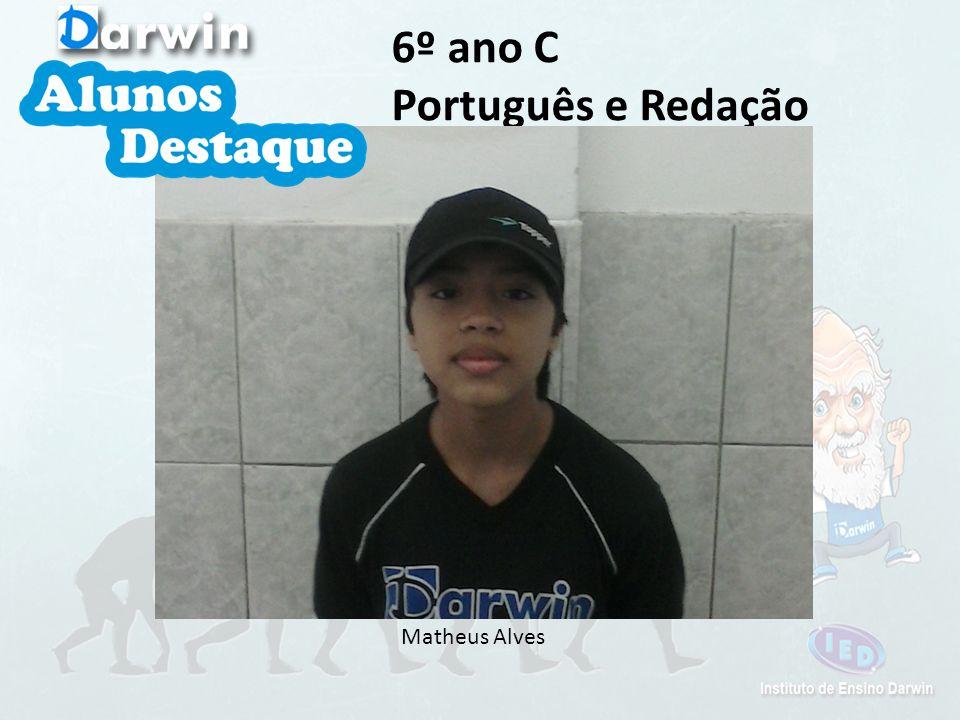6º ano C Português e Redação Matheus Alves
