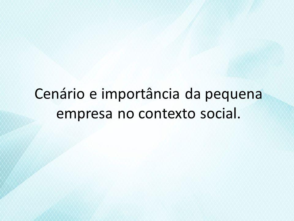 Cenário e importância da pequena empresa no contexto social.
