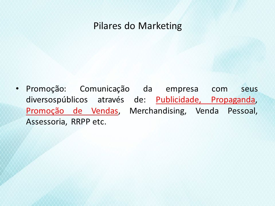 Pilares do Marketing