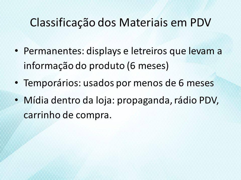 Classificação dos Materiais em PDV