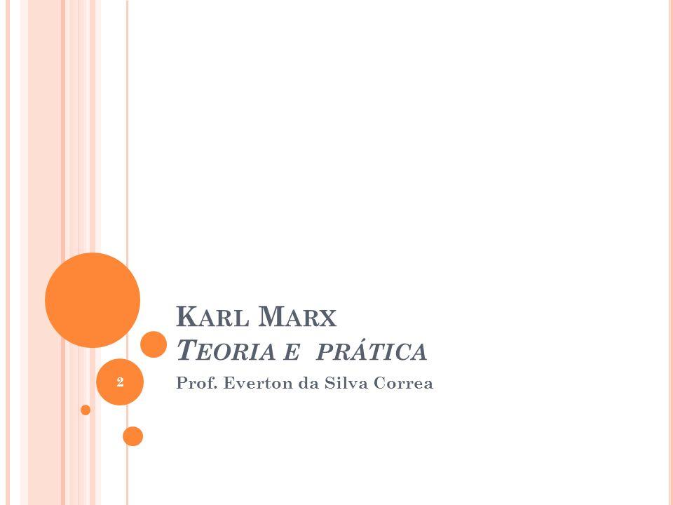 Karl Marx Teoria e prática