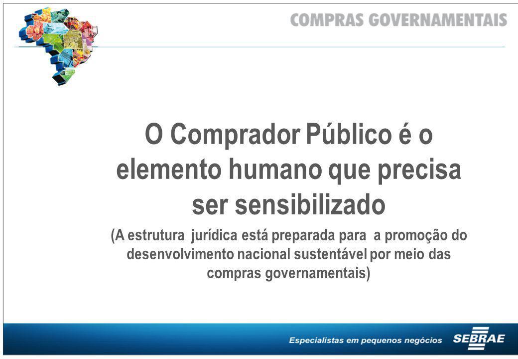 O Comprador Público é o elemento humano que precisa ser sensibilizado
