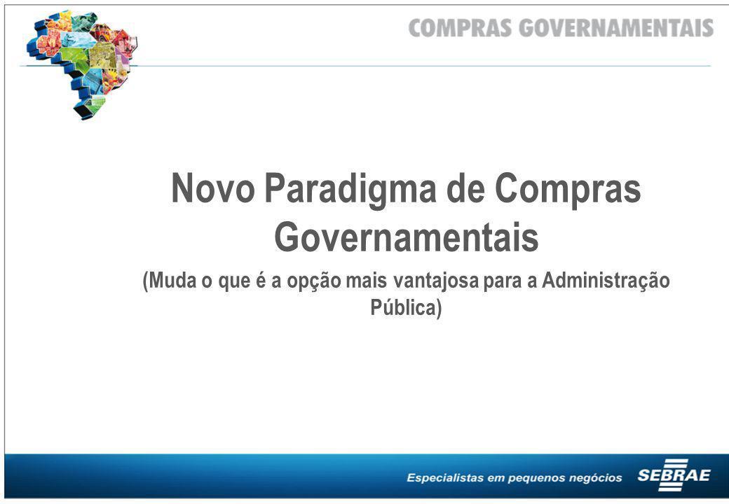 Novo Paradigma de Compras Governamentais