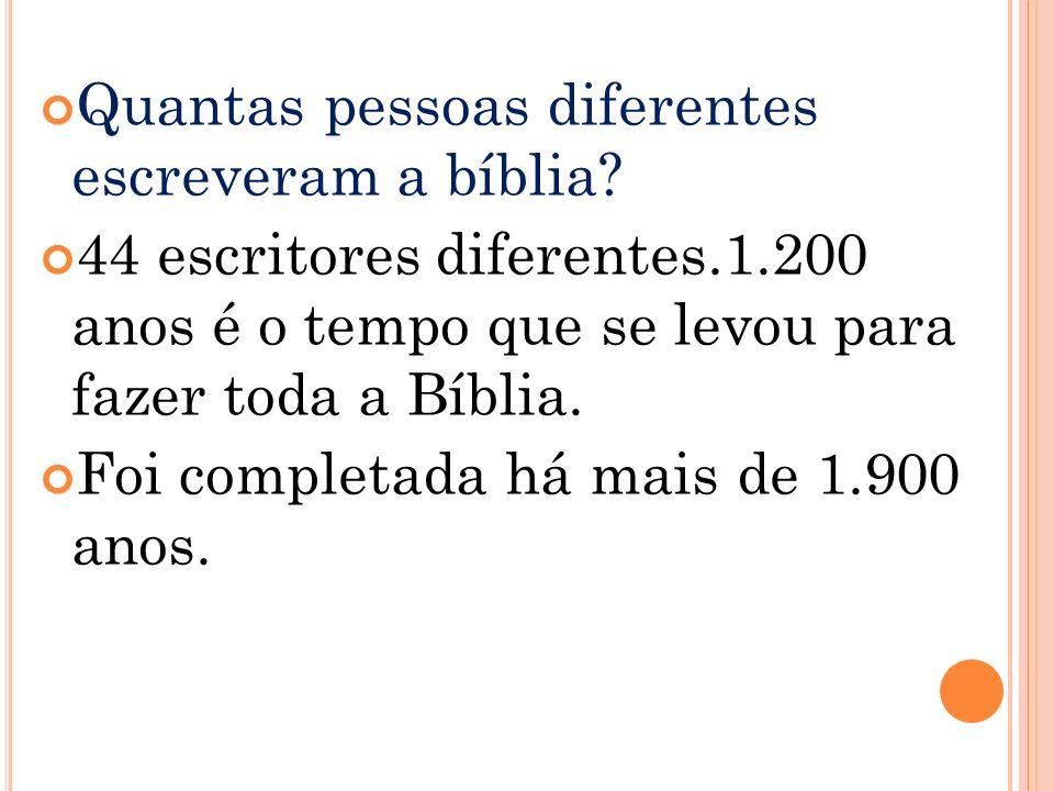 Quantas pessoas diferentes escreveram a bíblia