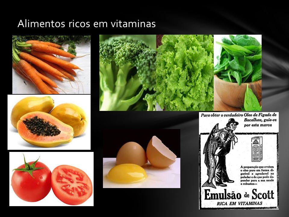 Alimentos ricos em vitaminas