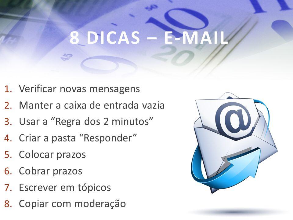 8 DICAS – E-MAIL Verificar novas mensagens