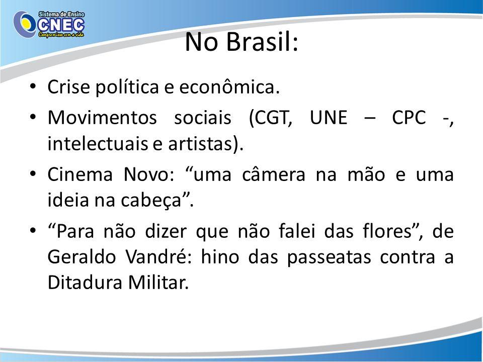 No Brasil: Crise política e econômica.