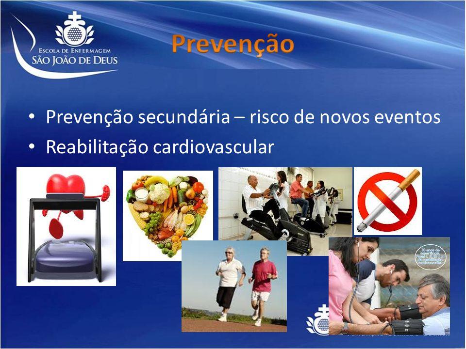 Prevenção Prevenção secundária – risco de novos eventos