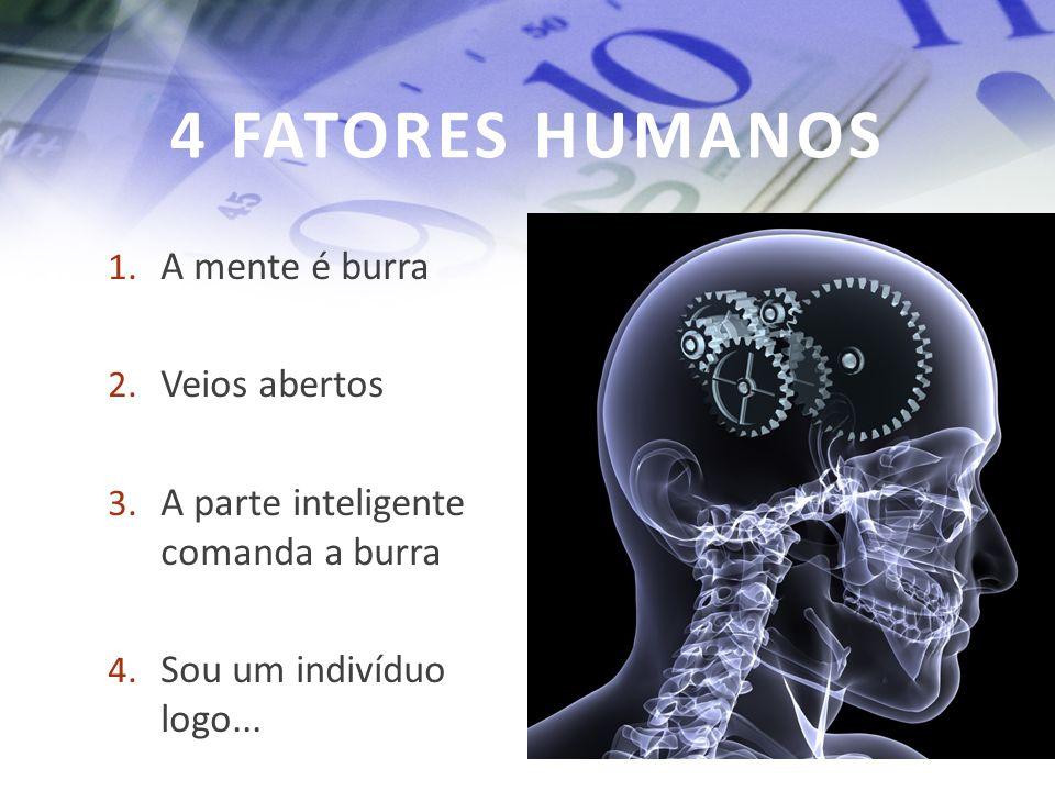 4 FATORES HUMANOS A mente é burra Veios abertos