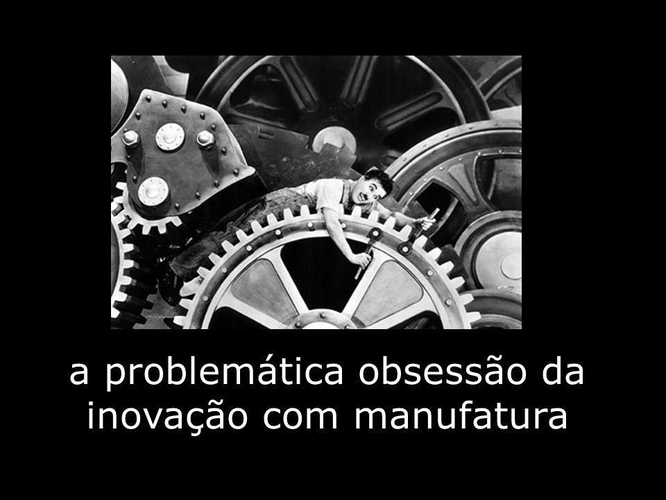 a problemática obsessão da inovação com manufatura