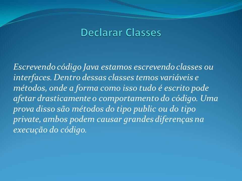 Declarar Classes
