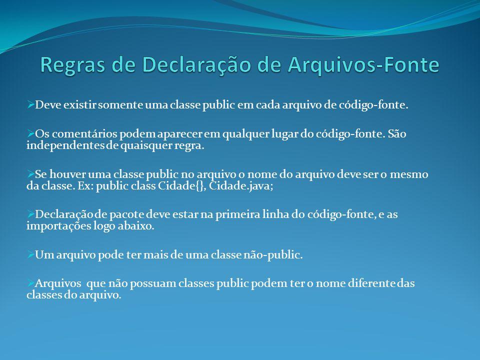 Regras de Declaração de Arquivos-Fonte