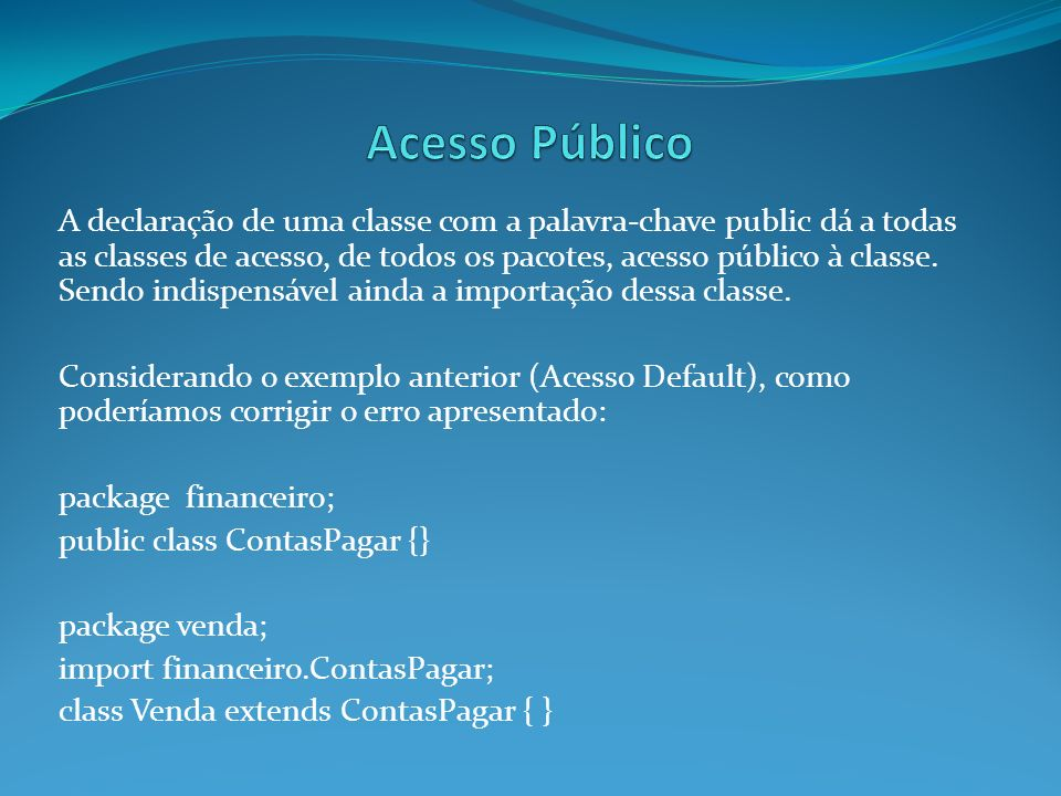 Acesso Público