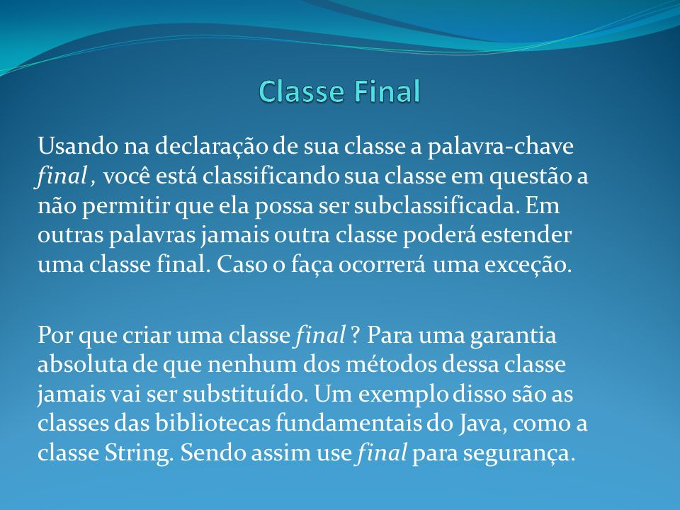 Classe Final