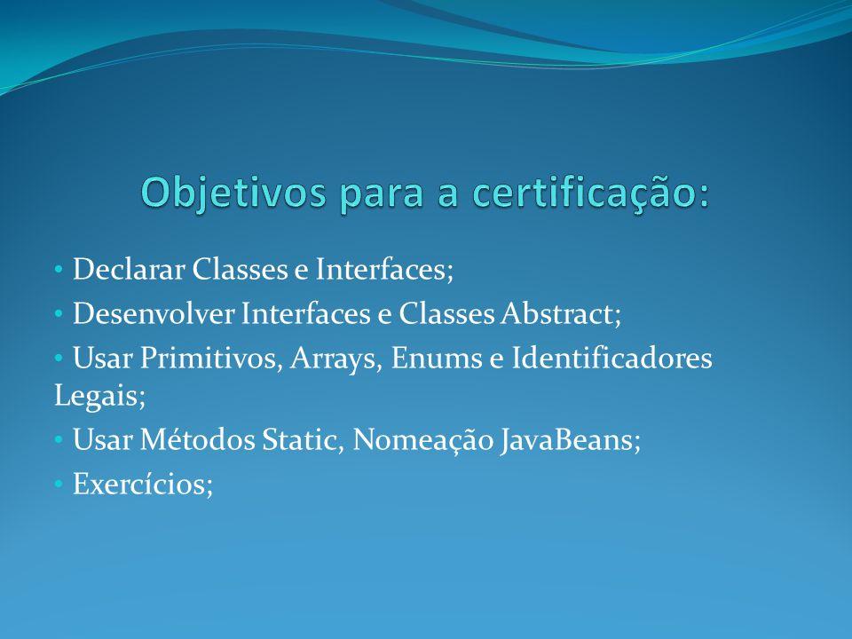 Objetivos para a certificação: