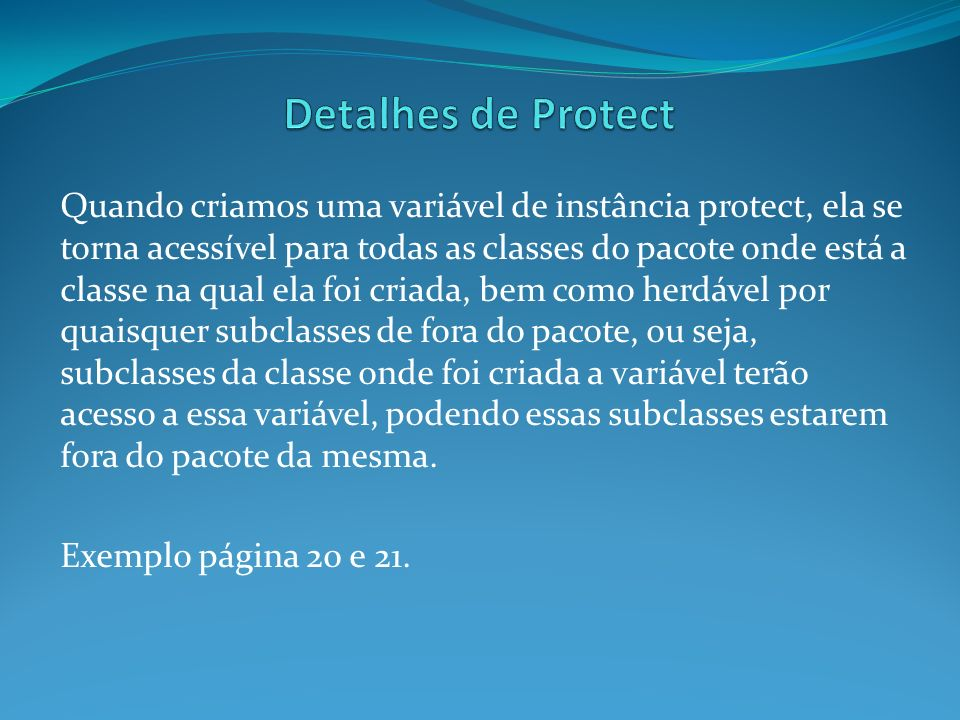 Detalhes de Protect