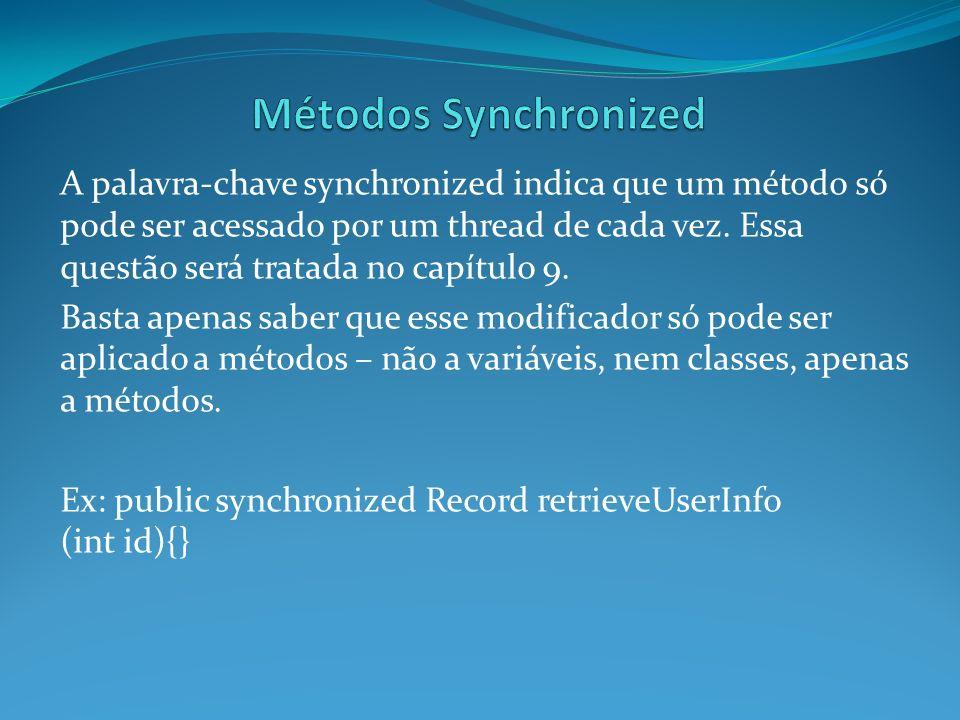 Métodos Synchronized