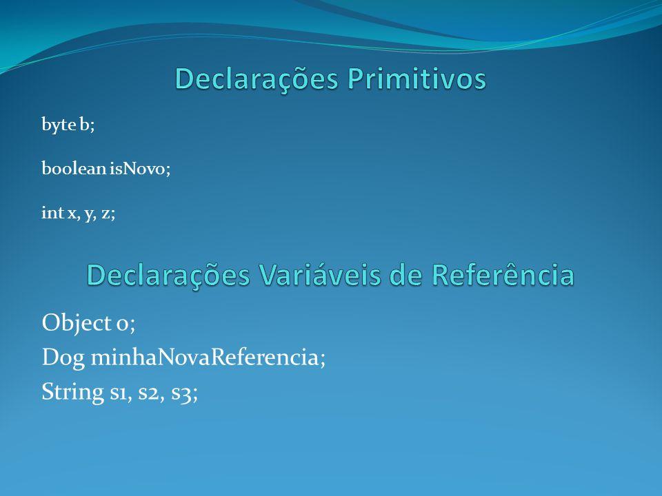 Declarações Primitivos