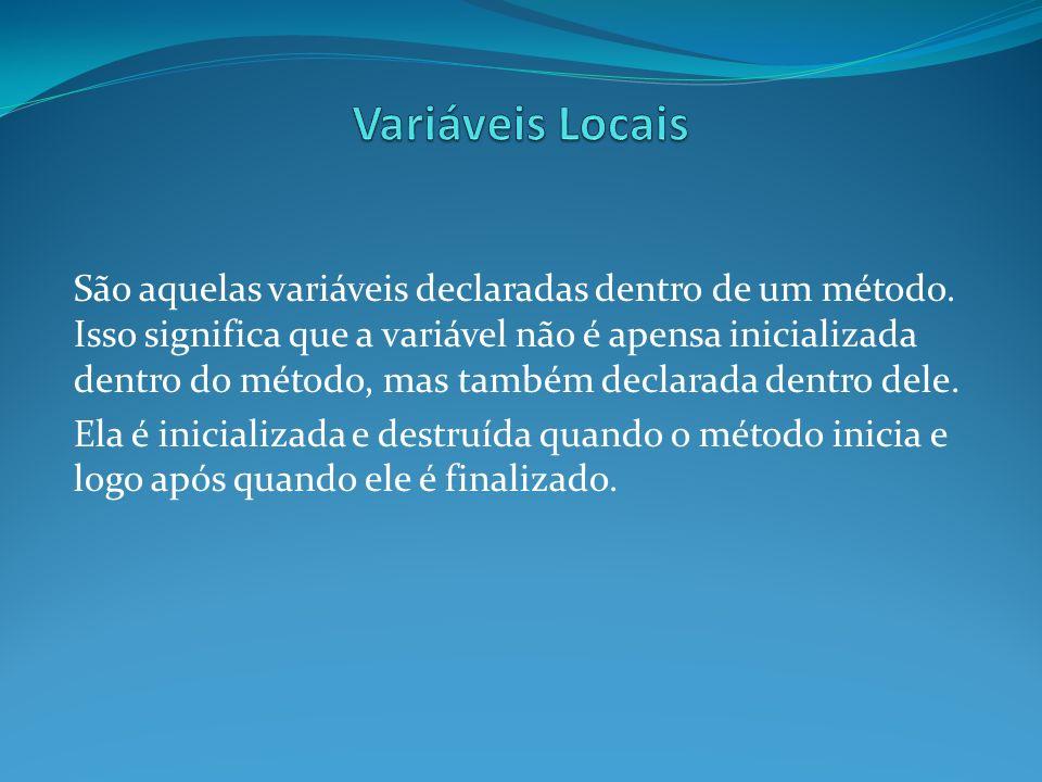 Variáveis Locais