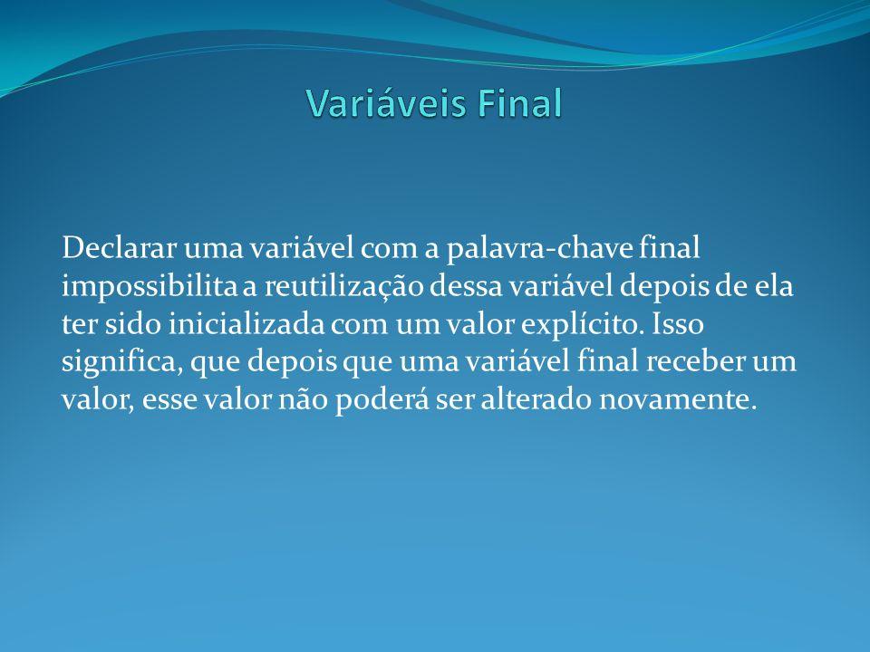 Variáveis Final