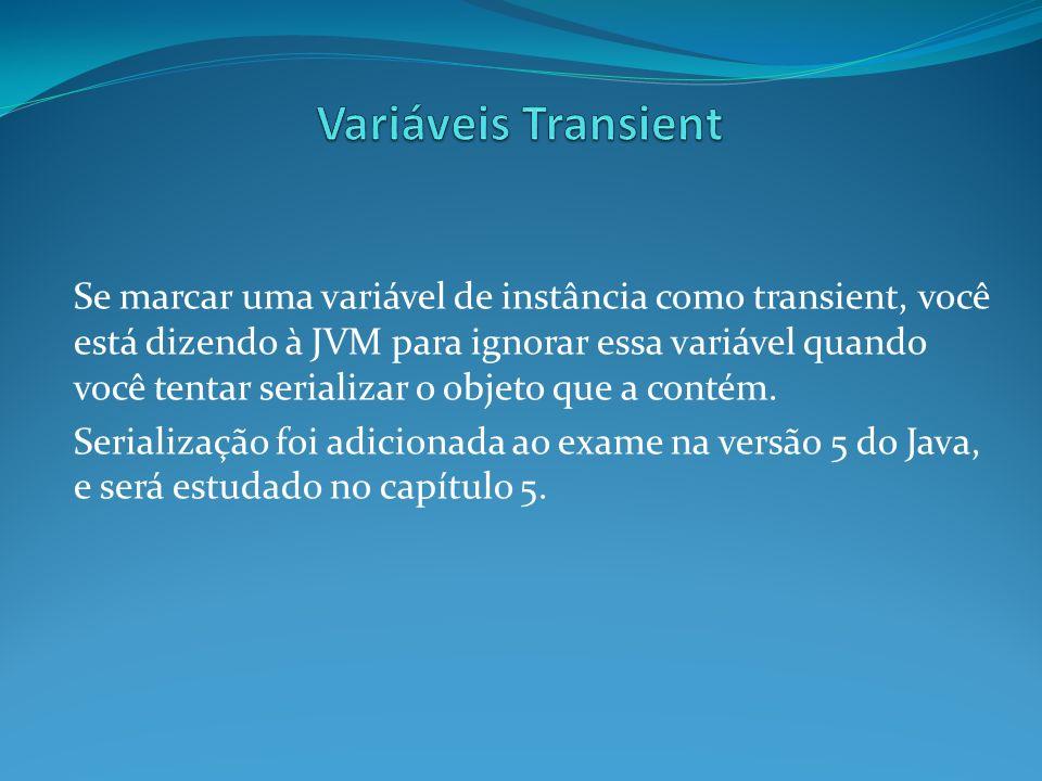 Variáveis Transient