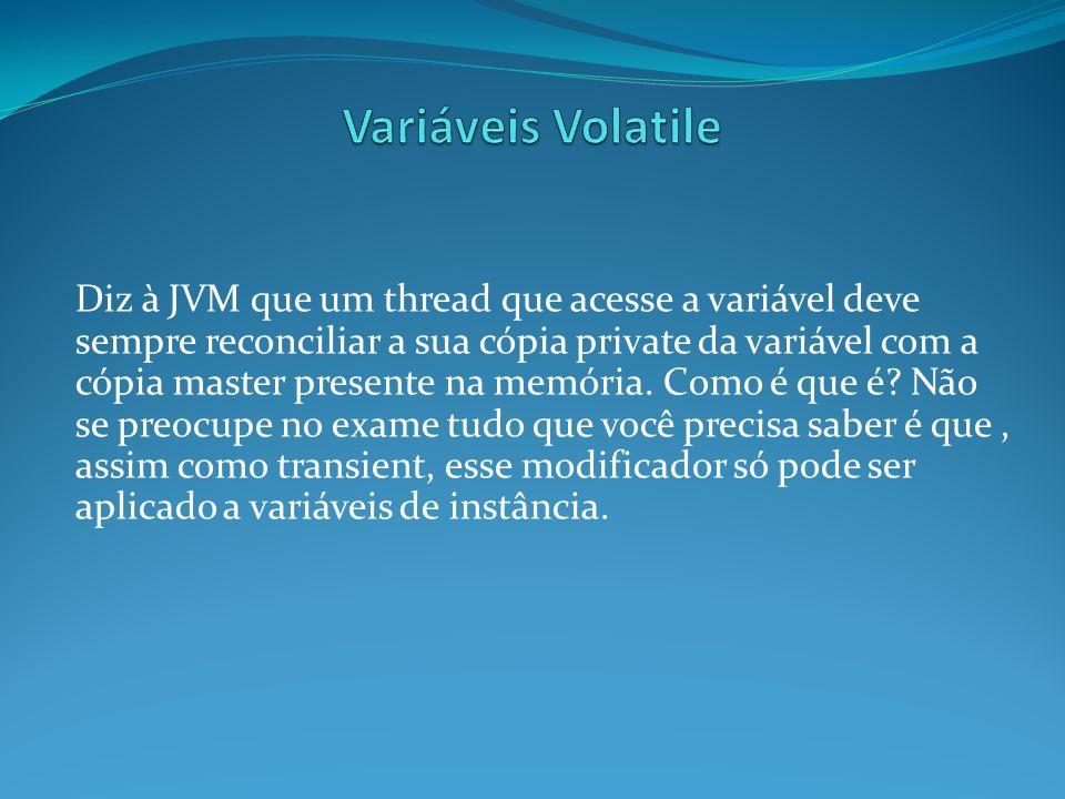 Variáveis Volatile