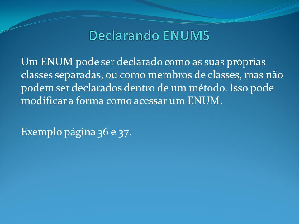 Declarando ENUMS