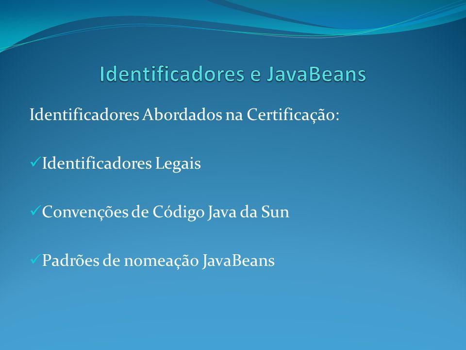 Identificadores e JavaBeans