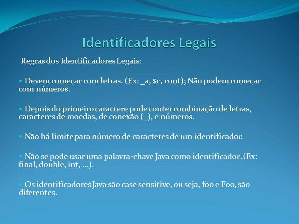 Identificadores Legais