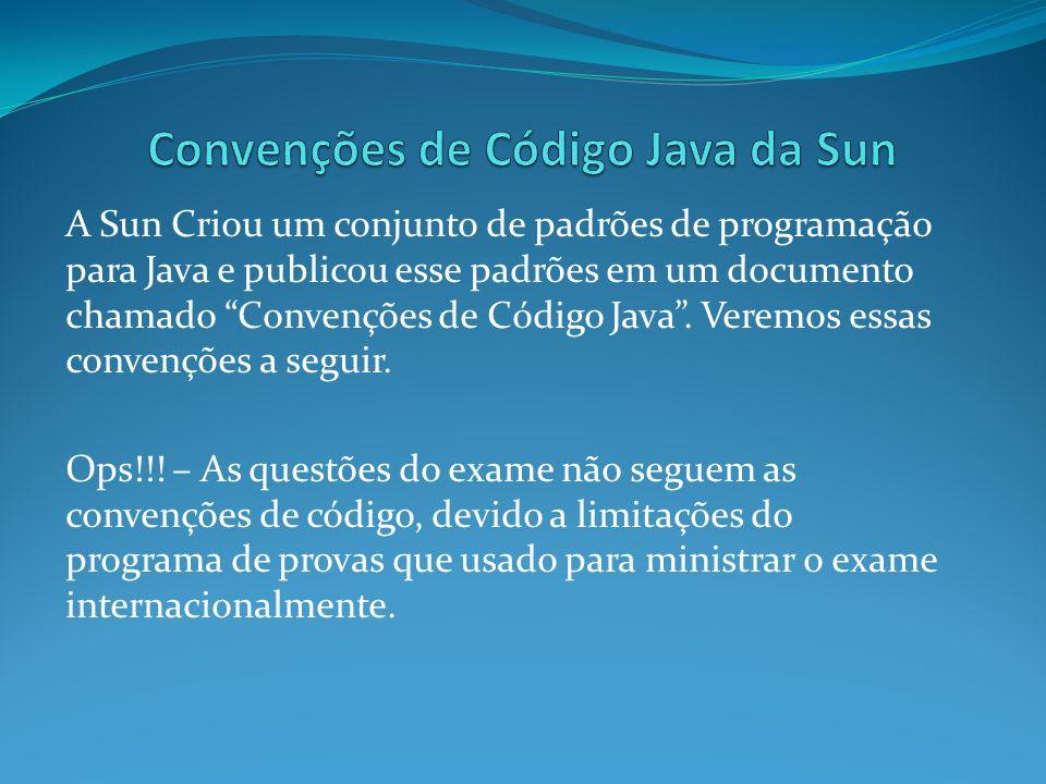 Convenções de Código Java da Sun