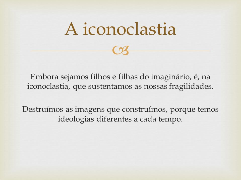 A iconoclastia