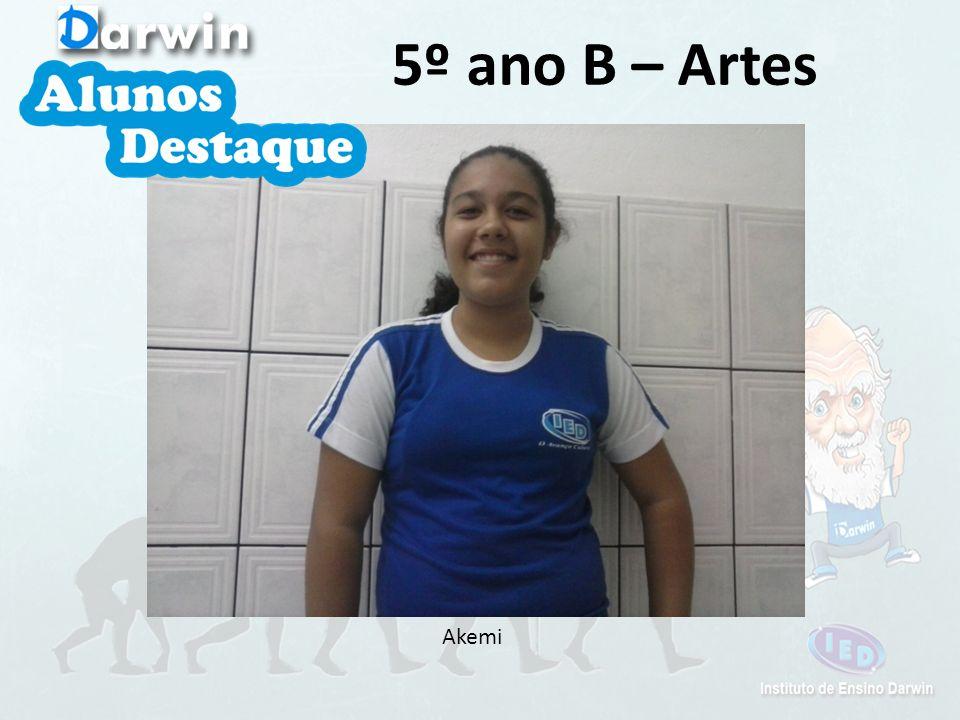 5º ano B – Artes Akemi