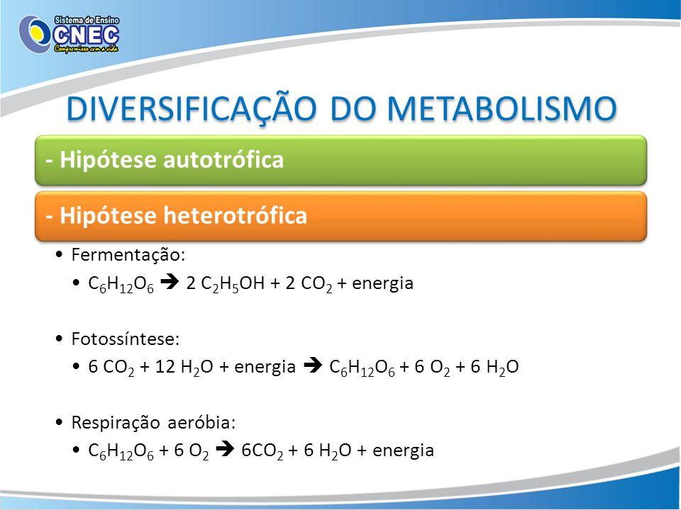 DIVERSIFICAÇÃO DO METABOLISMO