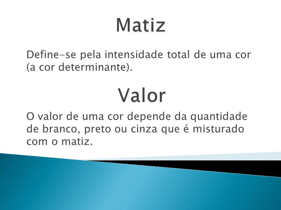 Define-se pela intensidade total de uma cor (a cor determinante).