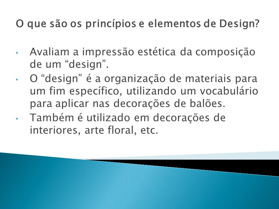 O que são os princípios e elementos de Design