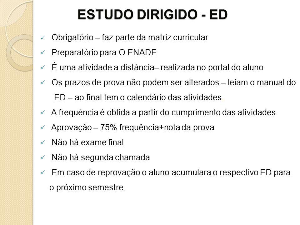 ESTUDO DIRIGIDO - ED Preparatório para O ENADE