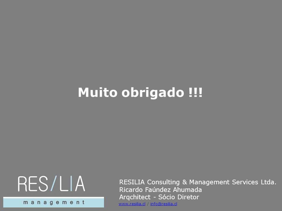 Muito obrigado !!! RESILIA Consulting & Management Services Ltda.